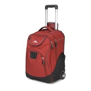 High Sierra Powerglide Brick Black 21-inch Wheeled Backpack with Teloscoping Handle