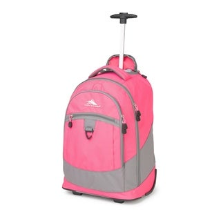 High Sierra Chaser Flamingo Charcoal 20-inch Wheeled Backpack