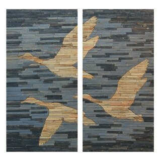 Renwil Blossom Unframed Rectangle Mango Wood Wall décor