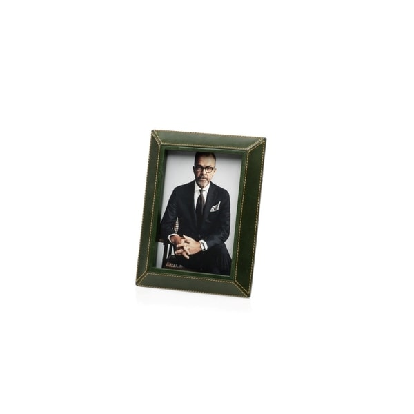 "5"" x 7"" Leather Picture Frame, Green"