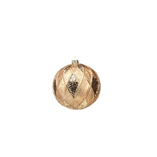 Large Holiday Ball Christmas Ornament, Paillette Gold (Set of 4)