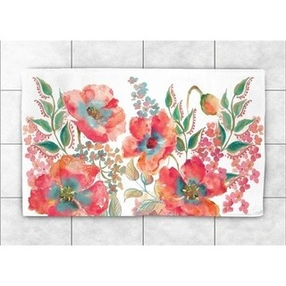 Laural Home Boho Florals 4'X6'' Accent Rug - 4' x 6'