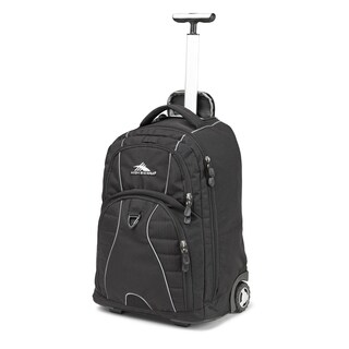 High Sierra Freewheel Black 20-inch Wheeled Backpack with Teloscoping Handle