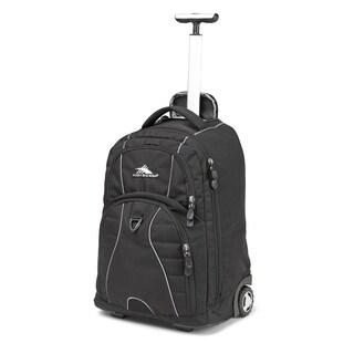 High Sierra Freewheel Black 20-inch Wheeled Backpack with Teloscoping Handle