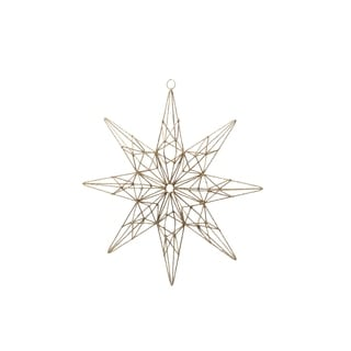 8 Point Star Christmas Ornament, Zigzag Pattern (Set of 4)
