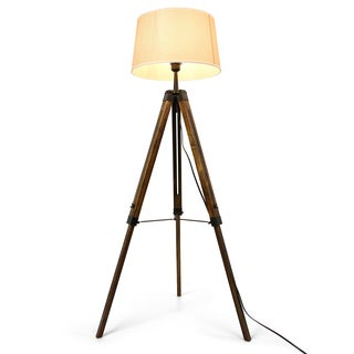 Journee Collection Anchorage Fabric/Wood 55-inch Floor Lamp
