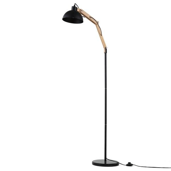 Journee Home 'Brampton' Iron Wood 63-in Floor Lamp