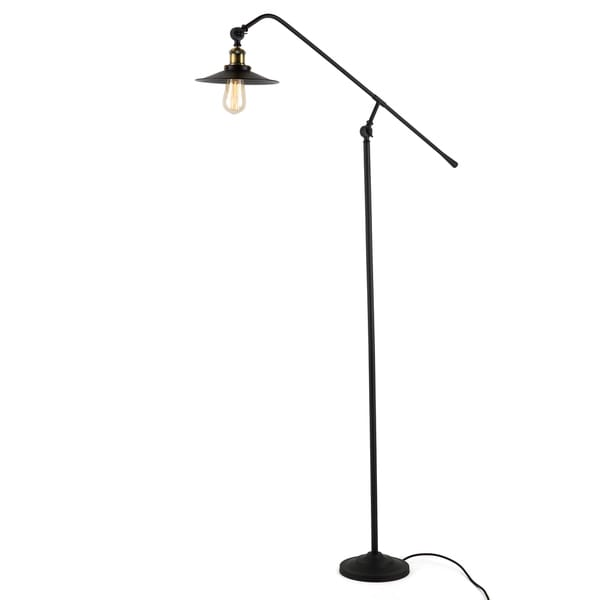 Journee Home 'Markham' Iron 47-in Edison Bulb Included Floor Lamp
