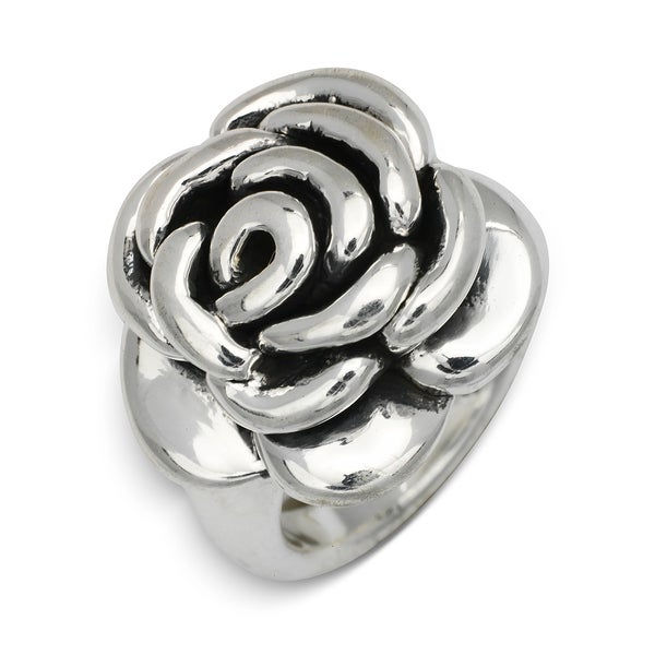 Fine Rings Sterling Silver Flower Rose Ring Electroform Products Hot Sale