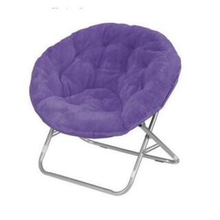 Faux Fur Saucer Chair (Option: Purple)