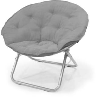 Large Microsuede Saucer Chair
