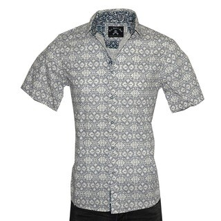"""Men's Short Sleeve Button up Shirt by Rock Roll n Soul """"Blue Bayou"""" (5 options available)"""