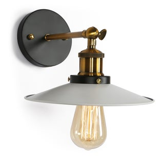 Journee Home 'Pioneer' Iron 8-in Hard Wired Edison Bulb Included Wall Sconce (Option: Black)