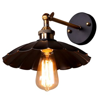 Journee Home 'Albany' Iron 10-in Hard Wired Edison Bulb Included Wall Sconce