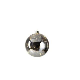 4-Piece Smoke Ball w/ Star Design LED Ornament Set, Large