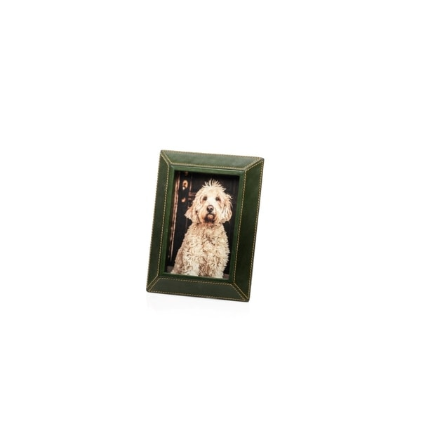 "4"" x 6"" Leather Picture Frame, Green"