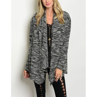 JED Women's Marled Charcoal Long Sleeve Cardigan|https://ak1.ostkcdn.com/images/products/17166260/P23428933.jpg?impolicy=medium