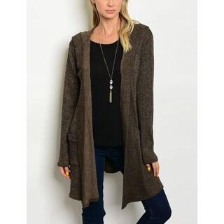 JED Women's Hooded Long Sleeve Knit Cardigan