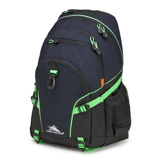 High Sierra Loop Midnight Blue Black and Lime 19-inch Backpack