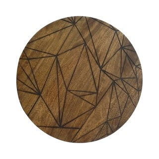 Renwil Parnell Unframed Round Mango Wood Wall décor