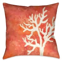 Laural Home Coral Sensation Indoor Decorative Pillow - N/A