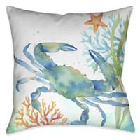 Laural Home Crab and Coral Indoor Decorative Pillow