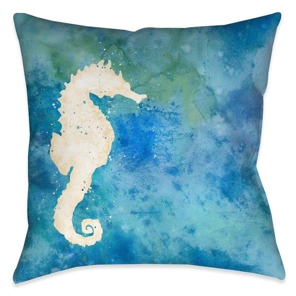 Laural Home Seahorse Sensation Indoor Decorative Pillow