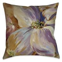 Laural Home Purple Floral Splash II Indoor Decorative Pillow