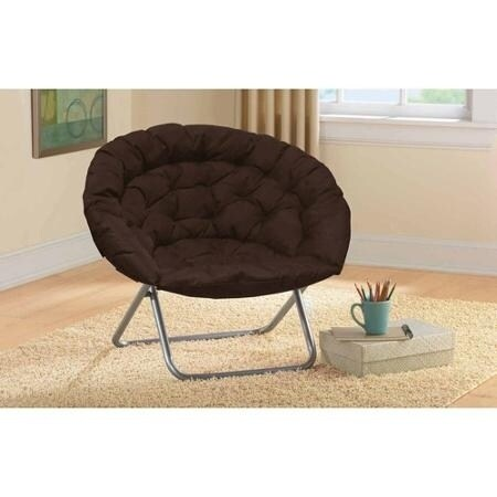 Oversized Saucer Chair (Brown) (Polyester Blend)