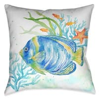 Laural Home Fish and Coral Indoor Decorative Pillow