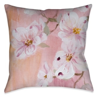 Laural Home Pink Dogwood Blossoms Indoor Decorative Pillow
