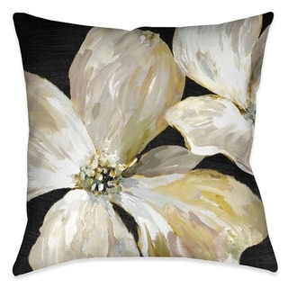 Laural Home Chic Flowers I Indoor Decorative Pillow