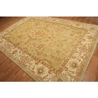 Pure Wool Transitional Ornamental Hand-knotted Turkish Oushak Rug (8'2x11'6) - Multi-color