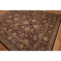 Turkish Oushak Soumak Hand-knotted Pure Wool Area Rug - 9' x 12'