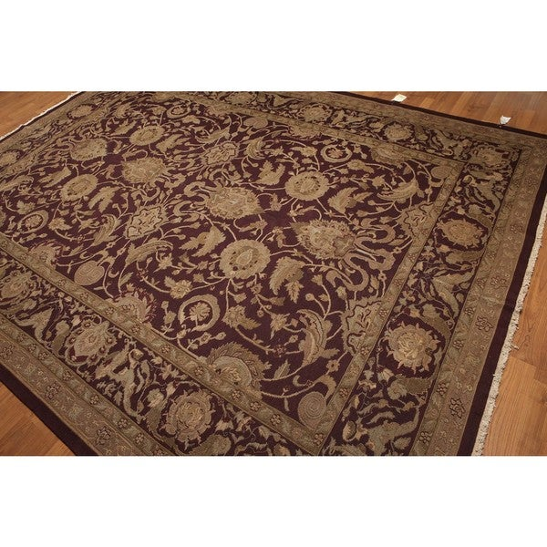 Turkish Oushak Soumak Hand-knotted Pure Wool Area Rug (9' x 12') - Multi-color