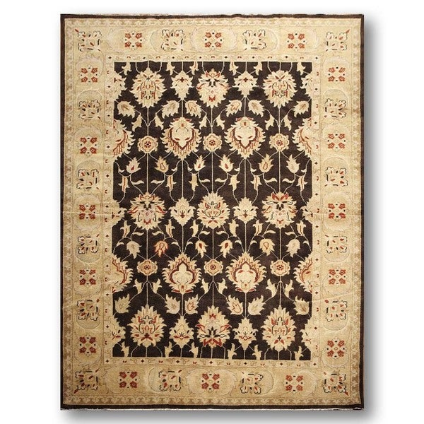 Turkish Oushak Pure Wool Area Rug (9'0 x 12'0) - Multi-color
