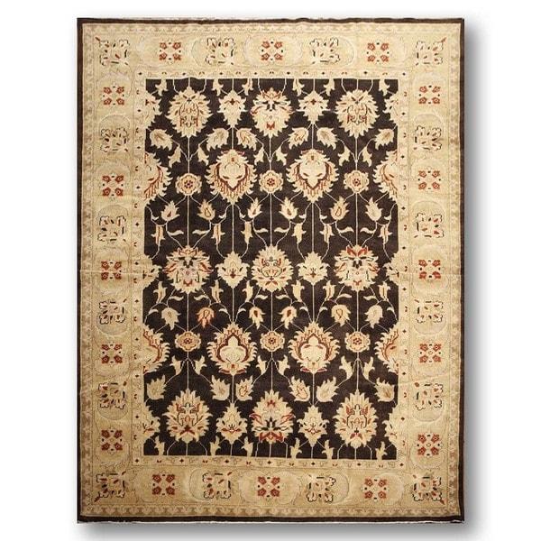 Turkish Oushak Pure Wool Area Rug - 9'0 x 12'0