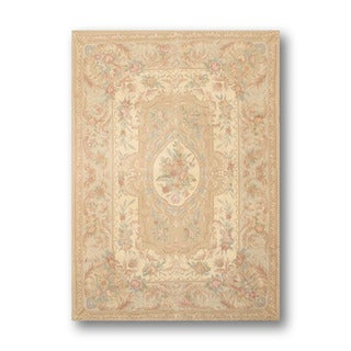 Ornamental Traditional Needlepoint Aubusson Pure Wool Rug (4 'x 6')
