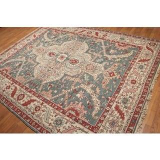 Nourison Nurmak Heriz Soumak Oriental Hand-knotted Pure Wool Reversible Rug (8' x 10')|https://ak1.ostkcdn.com/images/products/17166471/P23429121.jpg?impolicy=medium