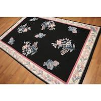 Hand-woven Ornamental Needlepoint Pure Wool Rug - 6' x 9'