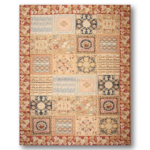 Pure Wool Country Cottage Ornamental Hand-woven Needlepoint Rug (8'3 x11'10)