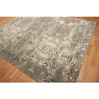 Contemporary Industrial Erased Pattern Tibetan Oriental Rug (8' x 10')