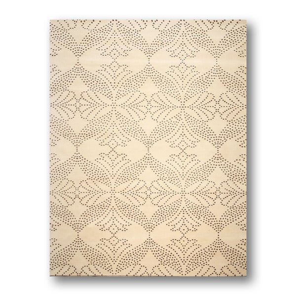 Pure Wool Contemporary Oriental Hand-knotted Tibetan Area Rug (8'x11')