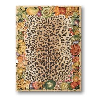 Farmhouse Novelty Cheetah-print Multicolor Needlepoint Aubusson Wool Rug (4'4 x 5'10)