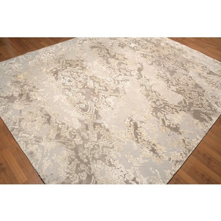 Beige/ Tan Wool and Rayon from Bamboo Tufted Area Rug (8' x 10')
