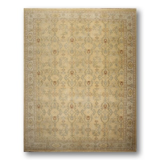 Authentic Turkish Oushak Antique Finish Pure Wool Hand-knotted Rug (9' x 12')