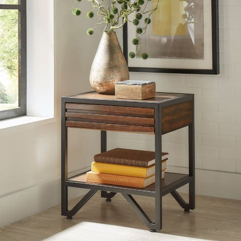 Chico Stacked Wood Nightstand by iNSPIRE Q Modern