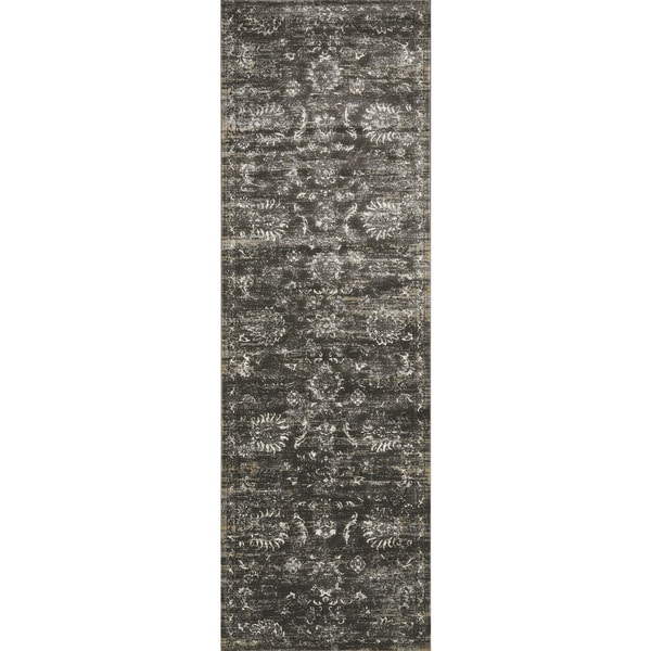"""Augustus Charcoal/ Silver Rug - 2'7"""" x 10'"""