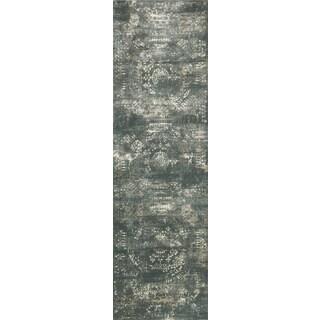 Augustus Storm/ Blue Rug (2'7 x 10')