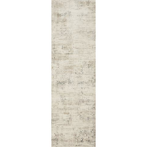"Alexander Home Augustus Persian Inspired Distressed Area Rug - 2'7"" x 8' Runner"